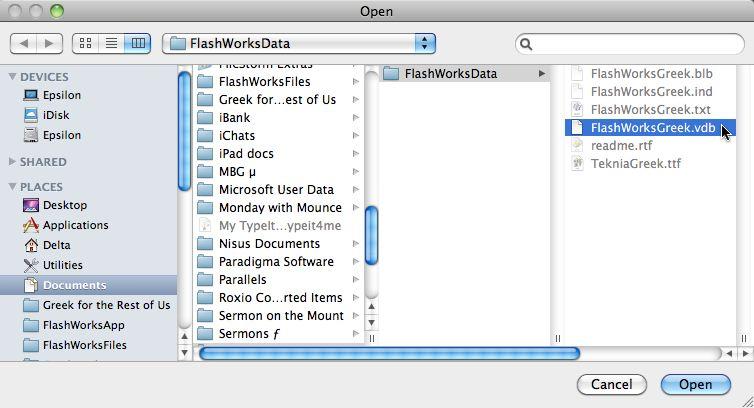 How do I create my own database for FlashWorks | billmounce com