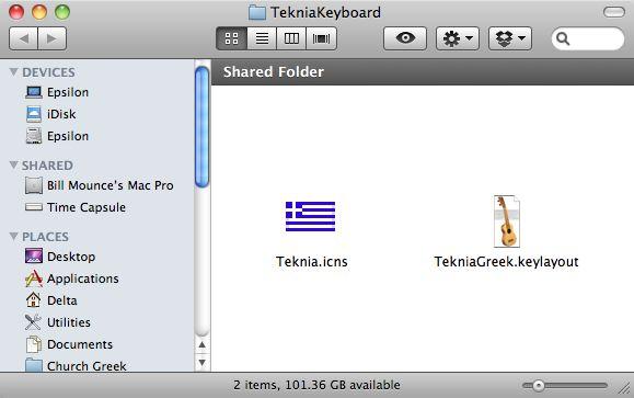How to Install the TekniaGreek Keyboard (Macintosh) | billmounce com